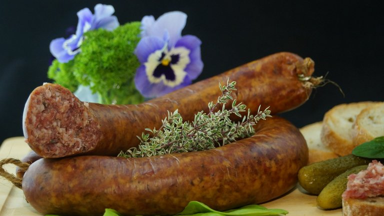 Sausage and Flowers